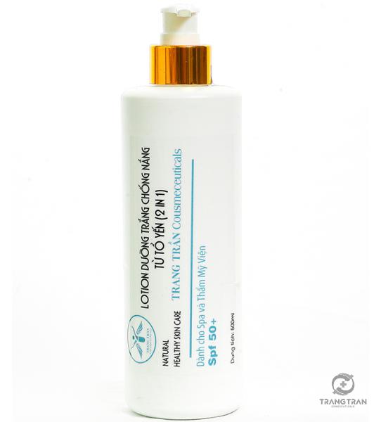 Lotion dưỡng trắng chống nắng từ tổ yến (500 ml)
